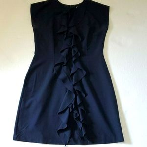 Olivia Matthew's Navy Ruffle dress